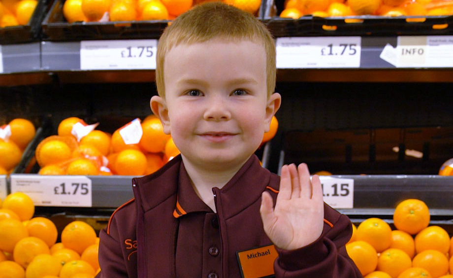 Meet 4 Year Old Michael Sainsburys Youngest Colleague For The Day
